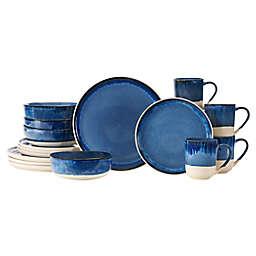Baum Apex Blue 16-Piece Dinnerware Set