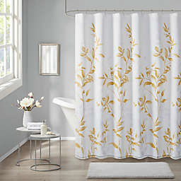 Madison Park Cecily Burnout Printed Shower Curtain
