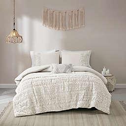 Madison Park Doreen Cotton 4-Piece King/California King Comforter Set in White