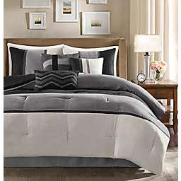 MP® Palisades Faux Suede 7pcs CK Comforter Set BLK