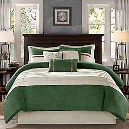 Madison Park Palmer 7-Piece California King Comforter Set in Green