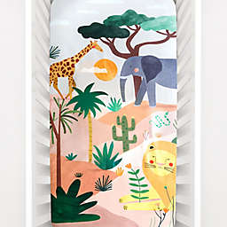 Rookie Humans® Cotton In The Savanna Fitted Crib Sheet in White