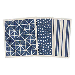 Simply Essential™ Mixed Swedish Dish Cloths in Navy (Set of 3)