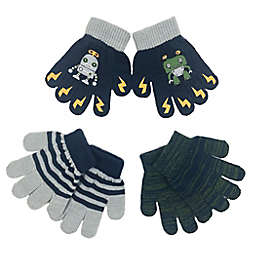 Toby Fairy™ Size 2T-4T 3-Pack Robot Gripper Gloves in Navy