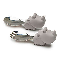 Loulou Lollipop Rhino Learning Spoon and Fork Set