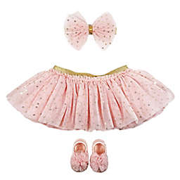 Toby Signature™ 3-Piece Dot Sequin Tutu, Headband, and Mary Jane Set in Pink