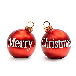 H For Happy™ 2-Sided Merry Christmas Painted Ornament Decoration in Red