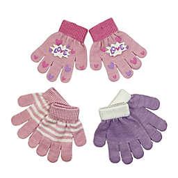 "Toby Fairy™ Size 2T-4T 3-Piece ""Love"" Print Gloves Set"