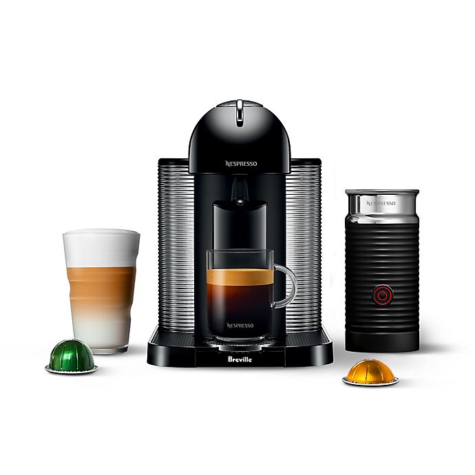 Alternate image 1 for Nespresso® by Breville® VertuoLine Coffee and Espresso Maker Bundle with Aeroccino Frother