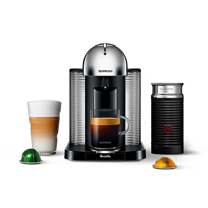 Alternate image 1 for Nespresso® by Breville Vertuo Coffee and Espresso Machine with Aeroccino in Chrome