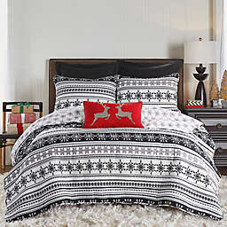Sparkle 2-Piece Reversible Twin Quilt Set in Black/White