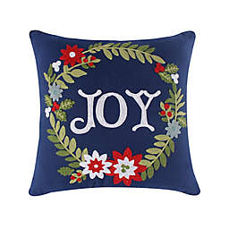 Levtex Home White Pine Joy Square Throw Pillow in Navy