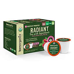 BareOrganics® Beauty Green Tea Pods for Single Serve Coffee Makers 12-Count