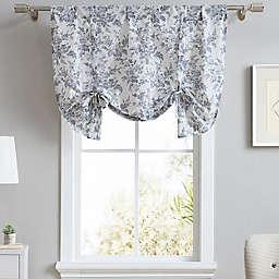 Laura Ashley® Annalise Floral Tie Up Designer Valance in Shadow Grey