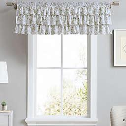 Laura Ashley® Lindy Tier Ruffled Window Valance in Light Green