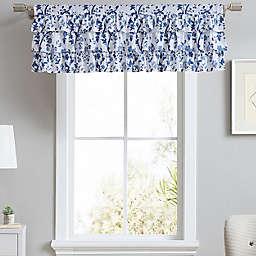 Laura Ashley® Elise Blue Tier Ruffled Window Valance in China Blue
