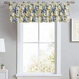 Laura Ashley® Cassidy Tier Ruffled Window Valance in Soft Yellow