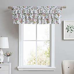 Laura Ashley® Meadow Breeze Tier Ruffled Window Valance in Purple