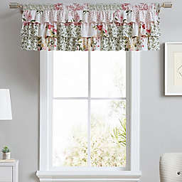 Laura Ashley® Ailyn Tier Ruffled Window Valance in Pink Rose