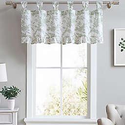 Laura Ashley® Natalie Tab Top Window Valance in Sage Green