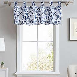 Laura Ashley® Elise Tab Top Window Valance in China Blue