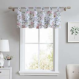 Laura Ashley® Meadow Breeze Tab Top Window Valance in Purple