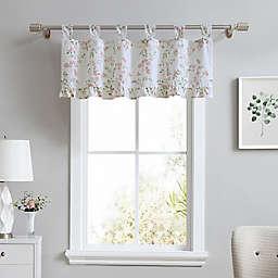 Laura Ashley® Fawna Tab Top Window Valance in Blush