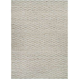 Couristan Nature's Elements Sea Bluff 6' x 9' Area Rug in Sand