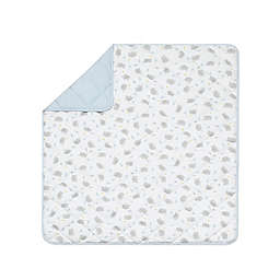 Living Textiles Mason Elephant Cotton Baby Comforter in Grey/Blue