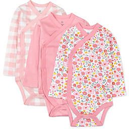 The Honest Company® 3-Pack Fair Isle Kimono Organic Cotton Bodysuits