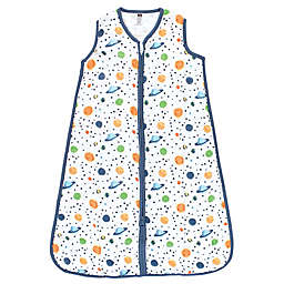 Hudson Baby® Space Muslin Cotton Wearable Blanket in Blue