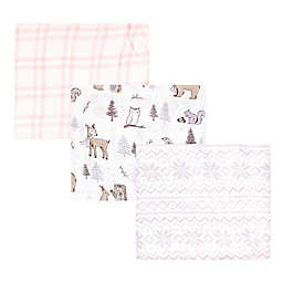 Hudson Baby® 3-Pack Winter ForestMuslin Swaddle Blankets in Pink