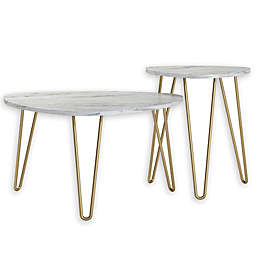 Novogratz Collection Athena 2-Piece Nesting Table Set
