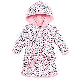 Hudson Baby® Size 0-9M Floral Cotton Rich Bathrobe in Blue/Pink