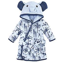 Hudson Baby® Size 0-9M Elephant Cotton Rich Bathrobe in Blue
