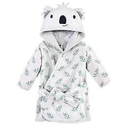 Hudson Baby® Size 0-9M Koala Hood Cotton Rich Bathrobe in Grey