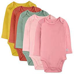 The Honest Company® 5-Pack Vintage Garden Organic Cotton Long Sleeve Bodysuits
