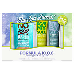 Formula 10.0.6® 3-Piece The Sole Savers! Foot Care Gift Set with Limited Edition Salt Soak