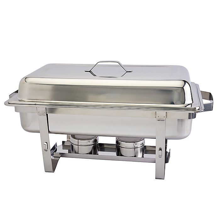 Alternate image 1 for Our Table™ 9.5 Qt. Stainless Steel Rectangular Chafing Dish