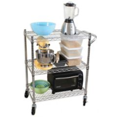 Trinity Wood Kitchen Cart In White Bed Bath Beyond