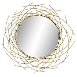 CosmoLiving by Cosmopolitan Glam 39-Inch Round Wall Mirror in Gold
