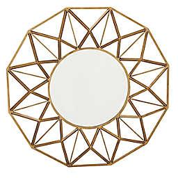 Ridge Road Décor Glam Metal 34-Inch x 34-Inch Geometric Wall Mirror in Gold