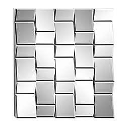 Ridge Road Décor Glam Wood Wall Mirror in Silver