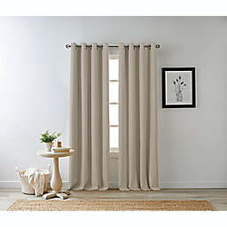 Bee & Willow™ Home Hadley 63-Inch 100% Blackout Curtain Panel in Linen (Single)
