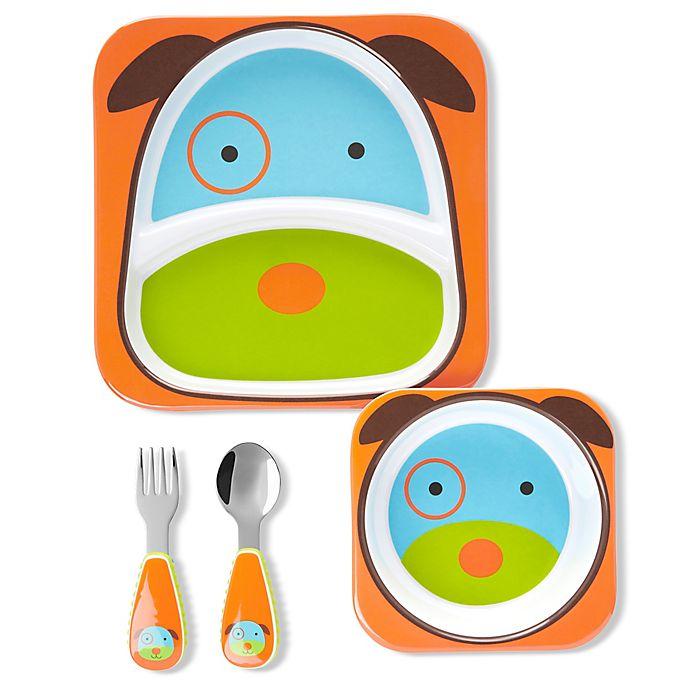Alternate image 1 for SKIP*HOP® Dog Zoo Mealtime Gift Set
