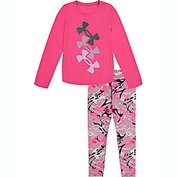 Under Armour® 2-Piece Glitter Electro Top and Pant Set in Pink/Grey