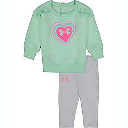 Under Armour® 2-Piece Heart Fleece Pant Set in Aquat/Grey