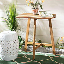 Safavieh Benton All-Weather Balcony Table in Teak