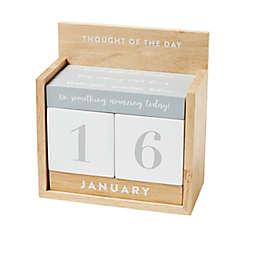 Eccolo Perpetual Desk Calendar in Beige