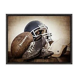 DesignOvation Sylvie Vintage Football Gear Framed Canvas Wall Art